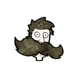 Cartoon huge mustache Royalty Free Stock Image