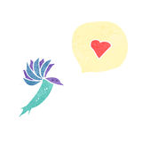 cartoon hummingbird with love heart Royalty Free Stock Photos