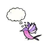 Cartoon hummingbird with thought bubble Stock Photos