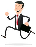 Cartoon Hurried Businessman Royalty Free Stock Photos