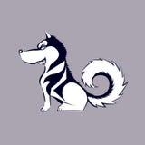 Cartoon husky dog. Cartoon illustration of Alaskan husky dog Stock Photo