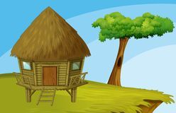 Cartoon hut Royalty Free Stock Photography