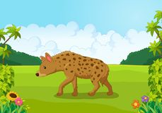Cartoon hyena from the side Royalty Free Stock Image