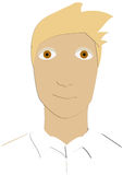 Cartoon. I made a short story and this is the main character Royalty Free Stock Photography