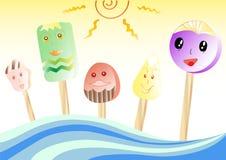Cartoon ice cream Royalty Free Stock Photo