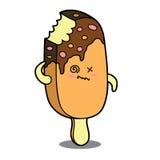 Cartoon ice cream character Stock Photo