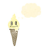Cartoon ice cream cone Royalty Free Stock Photos