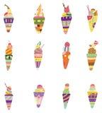 Cartoon ice cream icon.  Stock Images