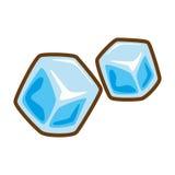 Cartoon ice cubes frozen water. Vector illustration eps 10 stock illustration