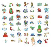 Cartoon icon collection #01 Stock Image