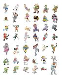 Cartoon icon collection #03 Stock Photos