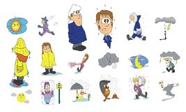Cartoon icon collection #04 Royalty Free Stock Photos