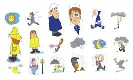 Cartoon icon collection #04 Royalty Free Stock Photos