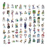 Cartoon icon collection #08 Stock Photos