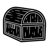 Cartoon icon drawing of a treasure chest. A creative illustrated cartoon icon image drawing of a treasure chest vector illustration