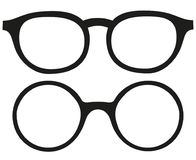 Free Cartoon Icon Poster Glasses, Spectacles Silhouette Set. Royalty Free Stock Image - 110116866