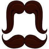 Cartoon icon poster man father dad day mustache moustache set. Man fashion holiday bright colorful vector illustration for gift card certificate banner sticker Royalty Free Stock Photography