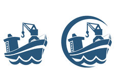 Cartoon icon ship. Logo theme illustration vector illustration