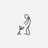 Cartoon icon of sketch little people in cute miniature scenes. Cartoon icon of sketch little vector people in cute miniature scenes Stock Photos