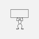 Cartoon icon of sketch stick business figure in cute miniature scenes. Stock Images