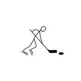 Cartoon icon sport figure sketch. Cartoon icon sport stick figure sketch  in cute miniature scenes Royalty Free Stock Photography