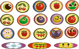 Cartoon icons Royalty Free Stock Images