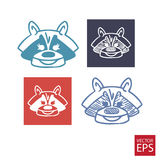 Cartoon icons badger Stock Photography