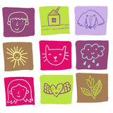 Cartoon icons - cute set. In Stock Image