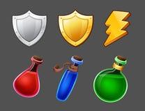 Cartoon icons set Stock Image