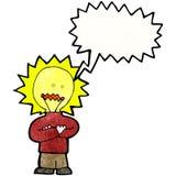 Cartoon idea light bulb man Royalty Free Stock Photo
