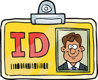 Cartoon identification card Royalty Free Stock Photos