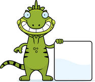 Cartoon Iguana Sign Stock Photo