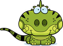 Cartoon Iguana Smiling Stock Photography