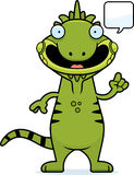 Cartoon Iguana Talking Royalty Free Stock Images