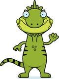 Cartoon Iguana Waving Stock Image