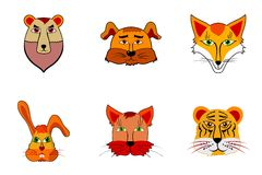 Cartoon illustration of animals Royalty Free Stock Photos