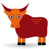 Cartoon illustration of asian yak bull. Vector Stock Photo