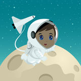 Cartoon illustration of an astronaut Stock Image