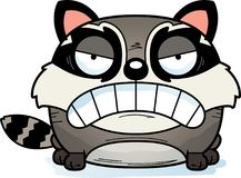 Cartoon Angry Raccoon. A cartoon illustration of a baby raccoon with an angry expression stock illustration
