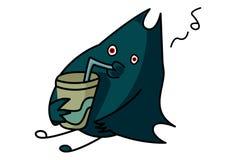Cartoon Illustration Of Bat royalty free illustration