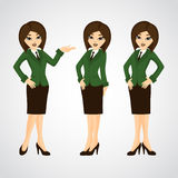 Cartoon illustration of a beautiful business woman Royalty Free Stock Photography