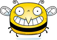 Happy Little Bee. A cartoon illustration of a bee looking happy vector illustration