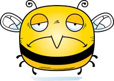 Sad Little Bee. A cartoon illustration of a bee looking sad stock illustration