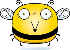 Surprised Little Bee. A cartoon illustration of a bee looking surprised vector illustration