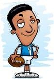 Confident Cartoon Black Football Player. A cartoon illustration of a black man football player looking confident vector illustration