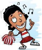 Cartoon Black Woman Cheerleader Dancing. A cartoon illustration of a black woman cheerleader dancing vector illustration