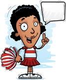 Cartoon Black Woman Cheerleader Talking. A cartoon illustration of a black woman cheerleader talking vector illustration