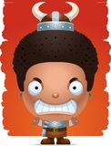 Angry Cartoon Boy Barbarian. A cartoon illustration of a boy barbarian with an angry expression Royalty Free Stock Images