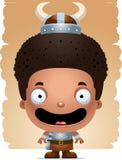 Cartoon Boy Barbarian Smiling. A cartoon illustration of a boy barbarian smiling Royalty Free Stock Images