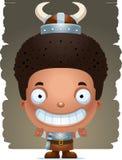 Cartoon Boy Barbarian Smiling. A cartoon illustration of a boy barbarian smiling Stock Photos